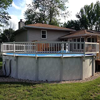 Vinyl Works 24- Inch Taupe Premium Resin Above-Ground Pool Fence Base Kit A - 8 Sections