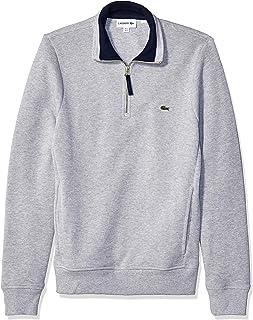 Lacoste Men's Long Sleeve Interlock Sweatshirt Half Zip Up