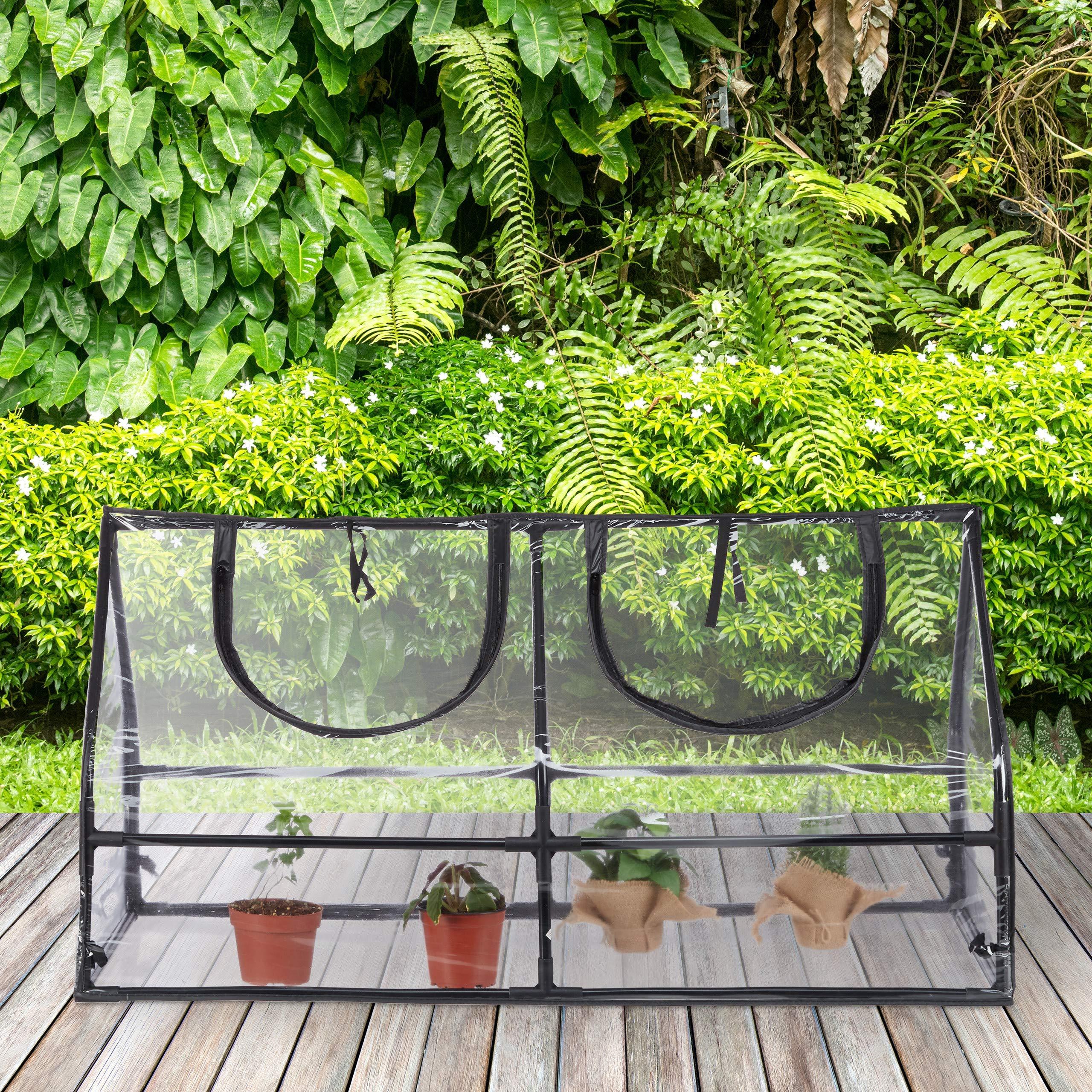 Relaxdays, Transparente, Invernadero Jardín y Terraza, PVC, Acero y Plástico, 60 x 120 x 60 cm: Amazon.es: Jardín