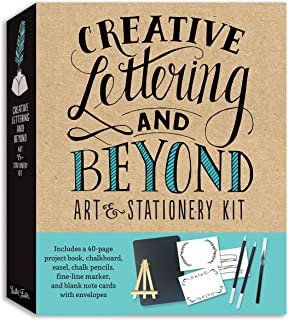 Creative Lettering and Beyond Art & Stationery Kit: Includes a 40-page project book, chalkboard, easel, chalk pencils, fine-line marker, and blank note cards with envelopes (Creative...and Beyond)