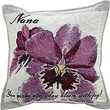 Orchid Nana Pillow - Grandma Gift - Made in USA