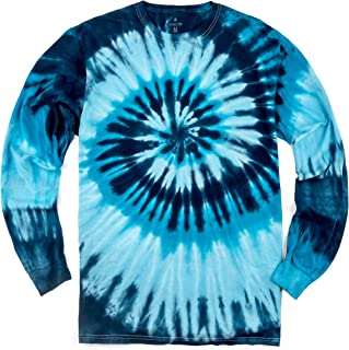 Long Sleeve Handcrafted Tie Dye T Shirts - 6 Adult Sizes - 5 Color Patterns