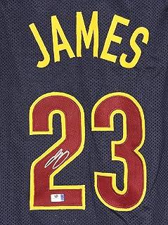 3c0c9b7256d Lebron James Cleveland Cavaliers Cavs Signed Autographed Custom Blue  23 Jersey  COA