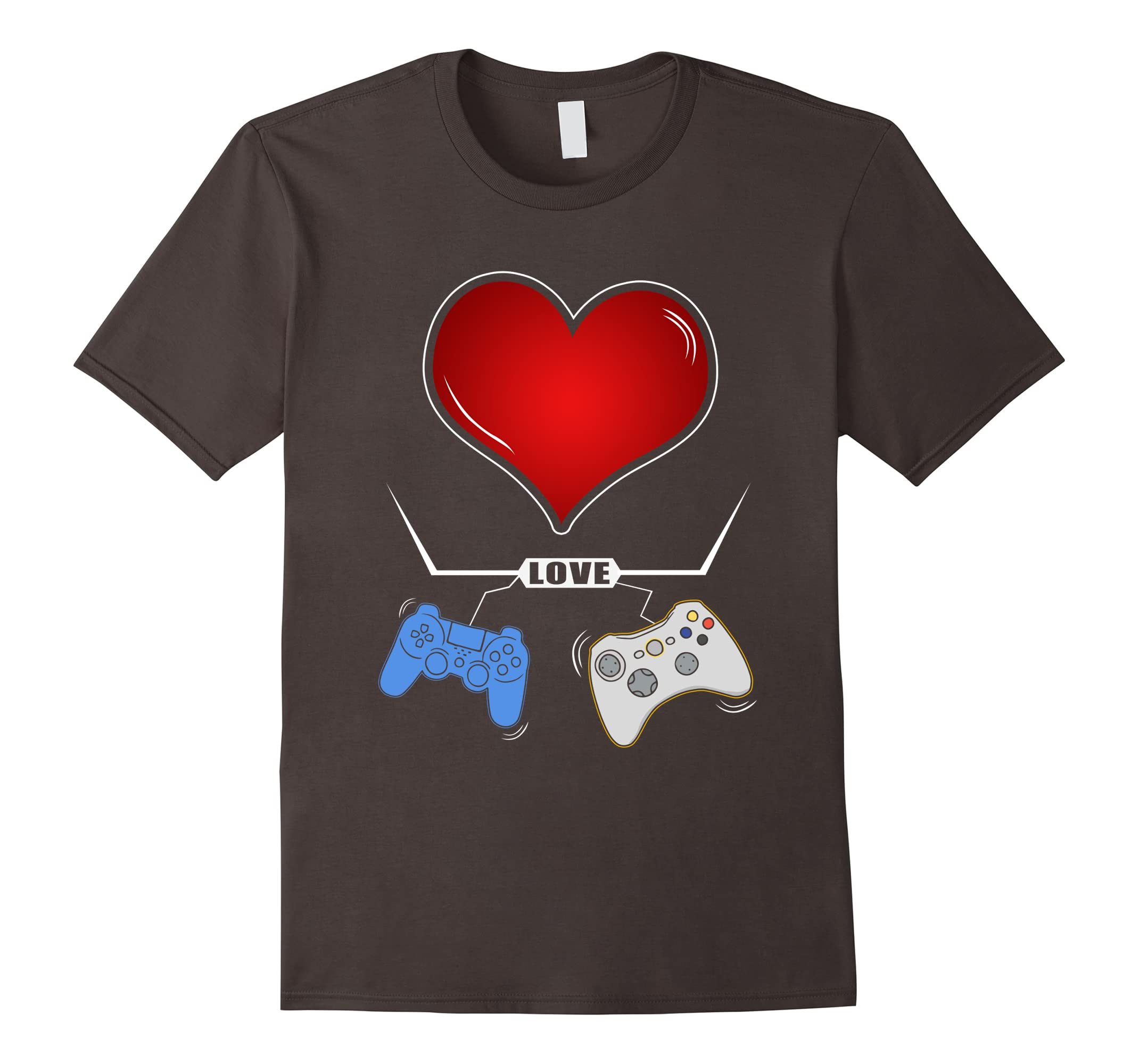 Valentines Day Shirt Video Gamer Controller Shirt-RT