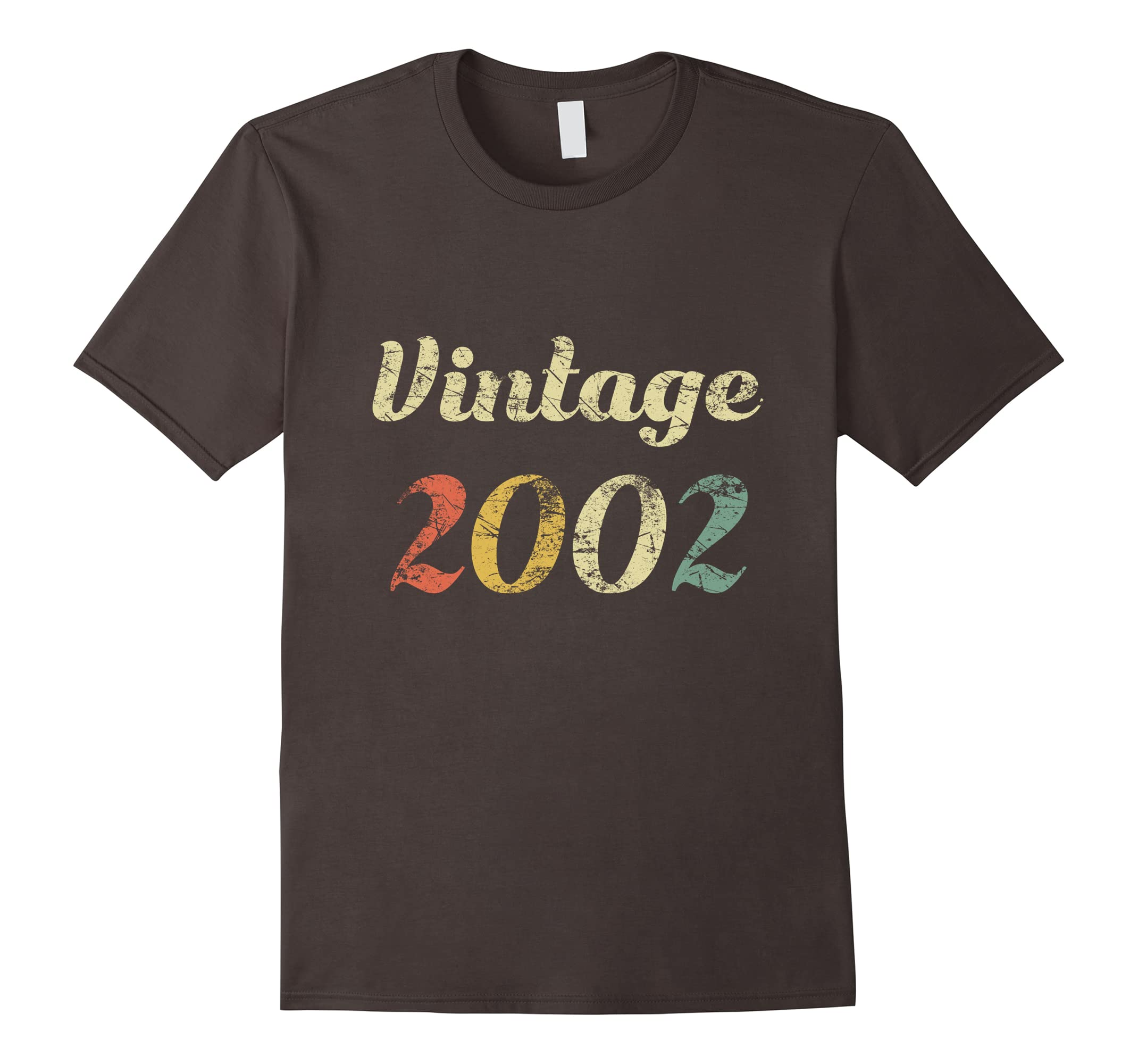 16th Vintage Birthday Gift Shirt Distressed Born In 2002-ah my shirt one gift