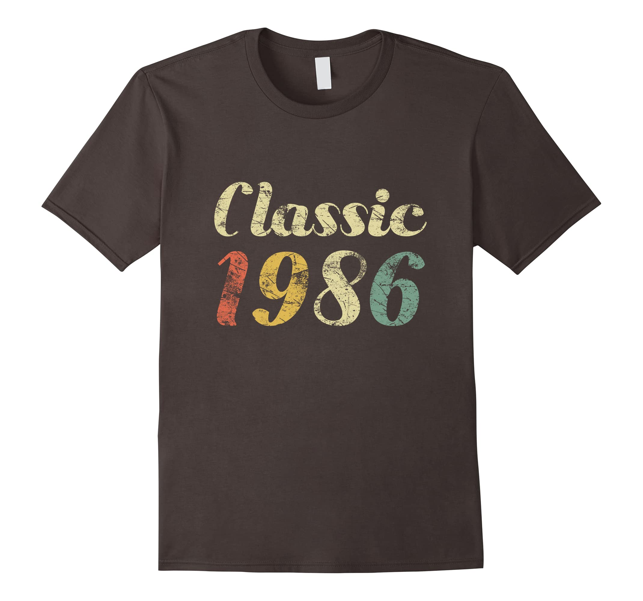 32 Year Old Vintage Distressed Birthday Gift 1986 Shirt-ah my shirt one gift