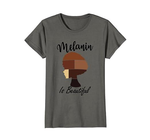 390985285 Amazon.com: Womens Black Pride T-Shirt - Melanin Is Beautiful ...