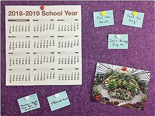 Bulletin Wall/Notice/Message Board 15.75 x 23.6 (Purple)