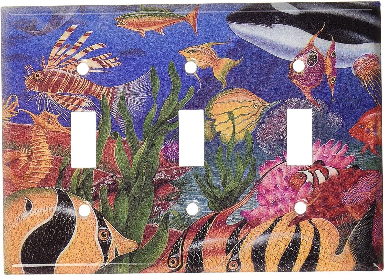 Art Plates - Sea Life Switch Plate - Triple Toggle
