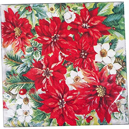 125 Ct Party Tableware Winter Botanical Paper Luncheon Napkins