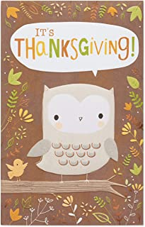 American Greetings Thanksgiving Card (Owl)