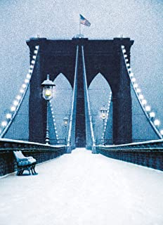 Brooklyn Bridge in Snow. New York Christmas Cards Boxed Set of 12 Holiday Cards And 12 Envelopes. Made In USA