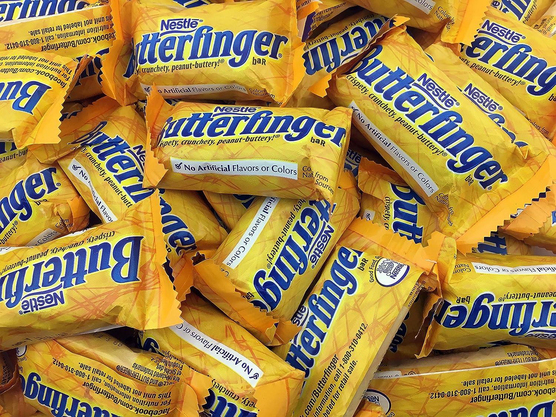Bargain Butterfinger Fun Size Crispy Milk Chocolate favorite Bars Peanut Butter