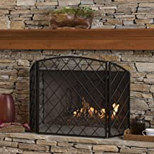Christopher Knight Home Angella 3 Panelled Black Iron Fireplace Screen