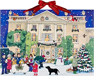 Alison Gardiner Famous Illustrator Unique Traditional Advent Christmas Calendar - Designed in England - Beautiful Christmas Scene at Highgrove House
