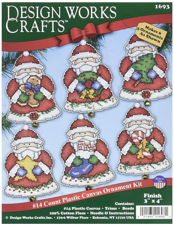 Tobin Santa Ornaments Plastic Canvas Kit, 3 by 4-Inch, Set of 6 vyyptthoeyhji811