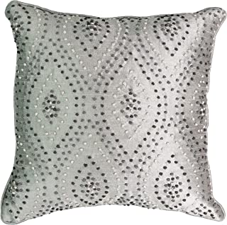 "Beautyrest Chacenay Embroidered Decorative Pillow, Paloma Grey, 16"" x 16"""