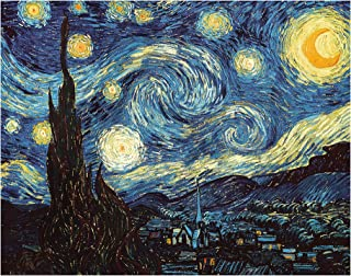 DIY Paint by Numbers Kit for Adults - Van Gogh The Starry Night Replica | DIY Paint by Numbers Landscape Scene Paintings A...