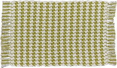 Park Designs Houndstooth Cotton Rug 24 x 42 Aloe