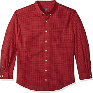 Men's Big and Tall Wrinkle Free Poplin Long Sleeve Button Down Shirt