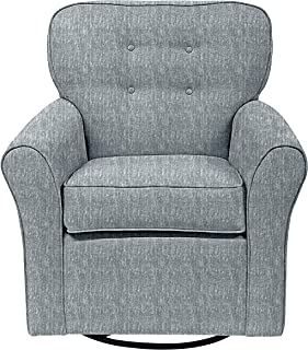The 1st Chair Lindsay Swivel Glider in Heather Blue