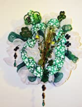 St Patrick Day Decor Deco Mesh Wreath with Lights