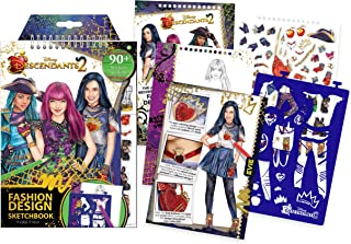 Make It Real - Disney Descendants 2 Fashion Design Sketchbook. Disney Inspired Fashion Design Coloring Book for Girls. Includes Evie Sketch Pages, Stencils, Stickers, and Design Guide