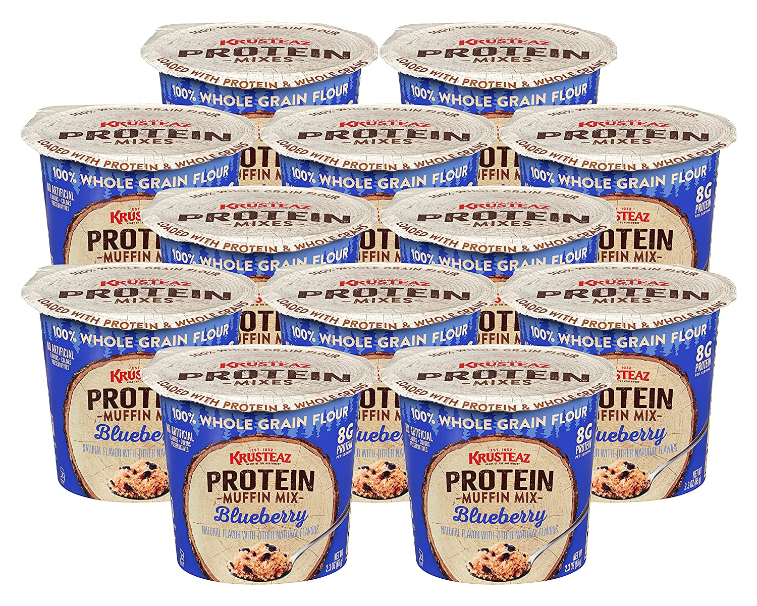 Krusteaz Protein Muffin Mix Cup Whole 100% Gr Brand 2021 autumn and winter new Cheap Sale Venue Blueberry