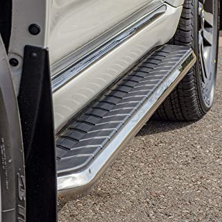 ARIES 2051870 AeroTread 70-Inch Polished Stainless Steel SUV Running Boards Brackets Sold Separately