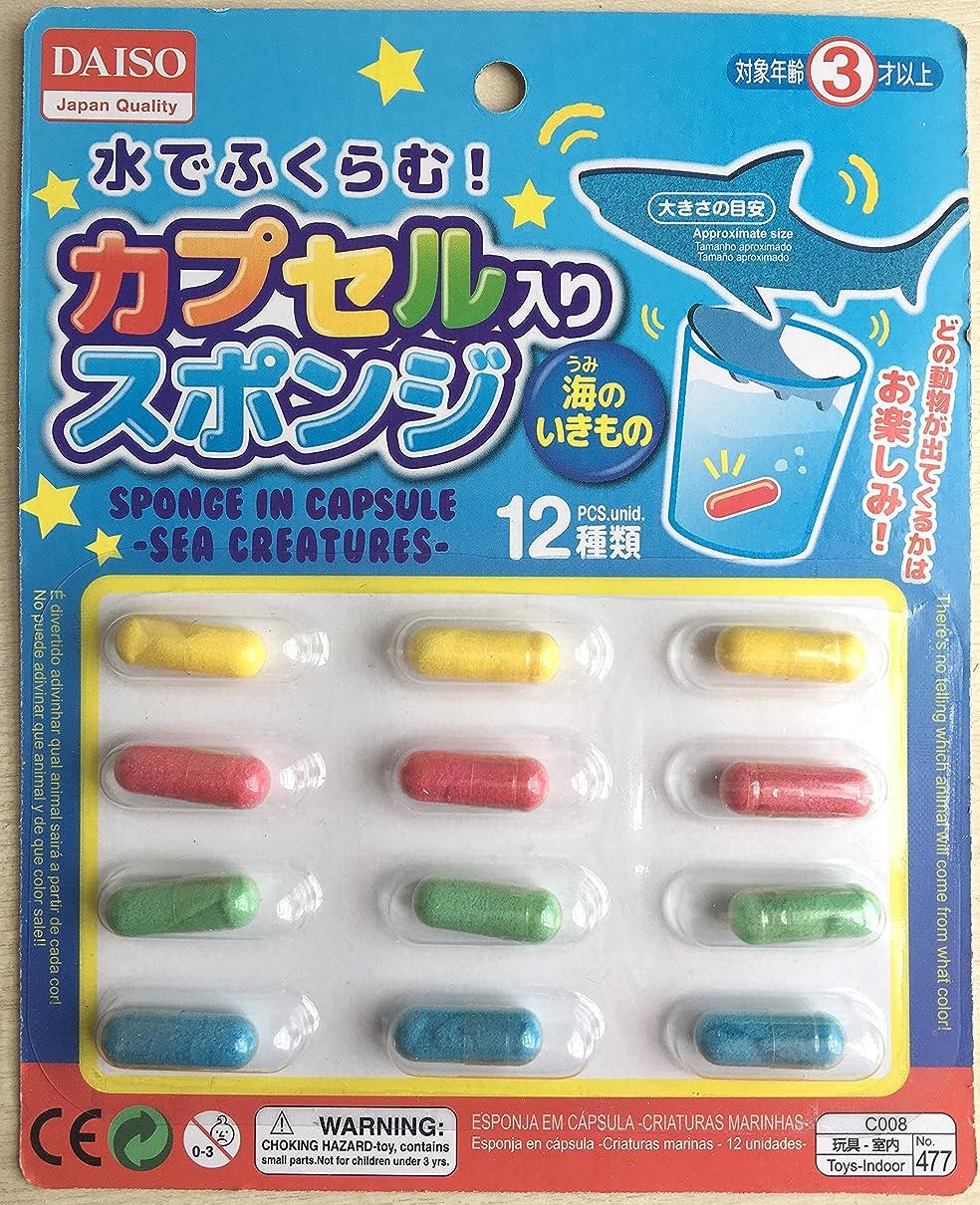 クラッチ人工的な歯痛水でふくらむ カプセル入りスポンジ 海のいきもの