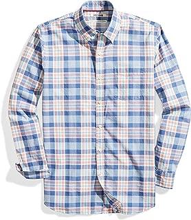 Amazon Brand - Goodthreads Men's Standard-Fit Long-Sleeve Lightweight Madras Plaid Shirt
