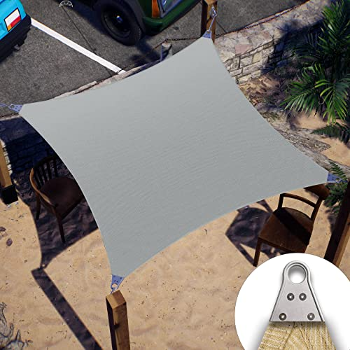 2021 ColourTree Super Ring Customized Size Order sale to Make Custom Size 6' x 40' Grey Sun Shade Sail sale CTAWS16 Canopy Awning Shades for Patio-260 GSM-Commercial Standard Heavy Duty sale