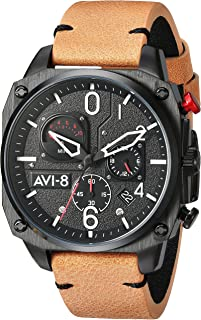 Hawker Harrier II Retrograde Edition Watch - Black/Brown