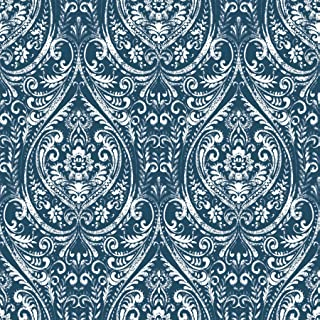 NuWallpaper NU1689 Bohemian Damask Indigo Peel & Stick Wallpaper
