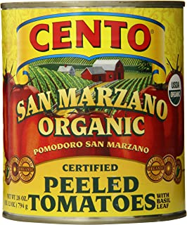 Cento San Marzano Organic Peeled Tomatoes, 28 Ounce (Pack of 6)