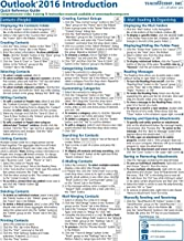 Microsoft Outlook 2016 Introduction Quick Reference Training Tutorial Guide (Cheat Sheet of Instructions, Tips & Shortcuts - Laminated Card)