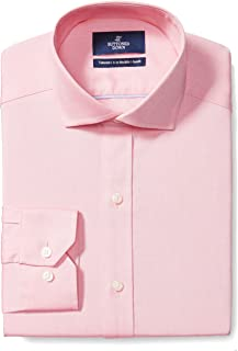 """Buttoned Down Men's Tailored Fit Cutaway-Collar Solid Non-Iron Dress Shirt, Pink, 20"""" Neck 39"""" Sleeve (Big and Tall)"""