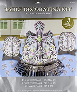 Amscan 280053 Blessed Day Kit Table Decoration, Assorted Sizes, Multicolored