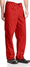 Cherokee Workwear Scrubs Unisex Cargo Pant, Red, X-Large