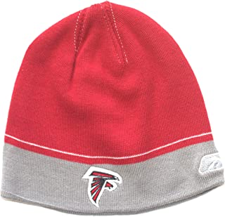 Reebok NFL Officially Licensed Atlanta Falcons Youth 2 Tone Lined Knit Beanie Hat Cap Lid Skull