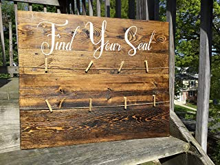 MosesMat41 Find Your Seat SeaWoodg Chart Pallet Sign
