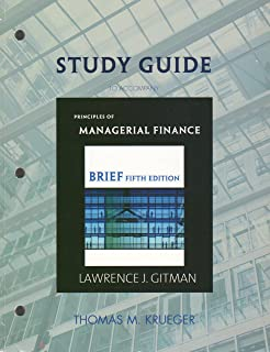 Study Guide for Principles of Managerial Finance, Brief