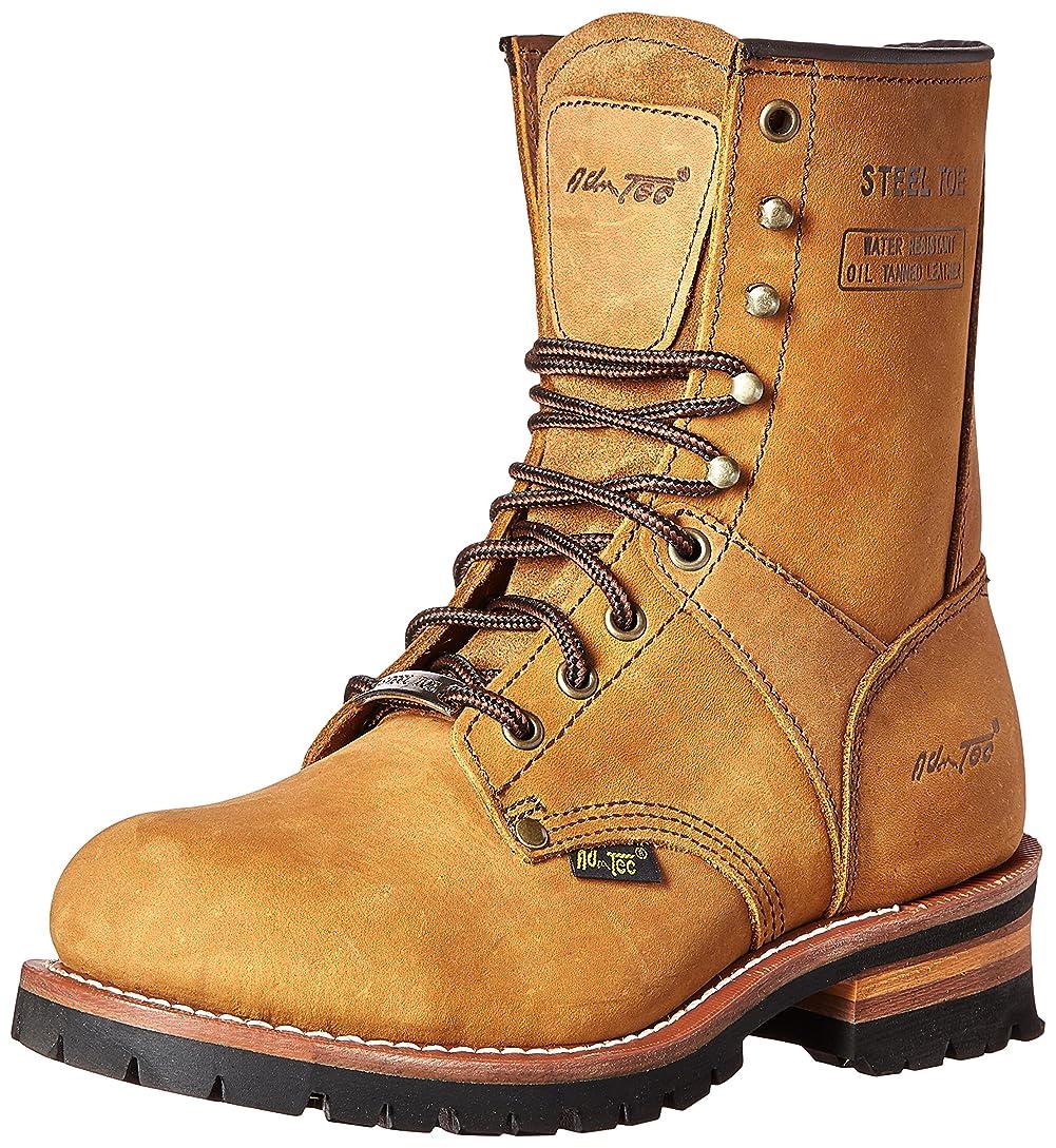 故障中洋服本当にAdtec Men's 9 inch Steel Toe Logger Boot, Brown, 6.5 M US