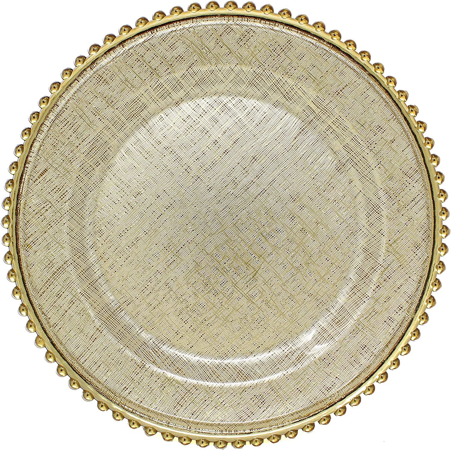 Cross-stitch Pattern Glass Charger 13 Inch Plate Dinner Bea Dealing full price reduction With Branded goods