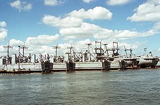 Home Comforts The Amphibious Cargo Ships USS El Paso (LKA-117) USS Charleston (LKA-113). Vivid Imagery Laminated Poster Print 24 x 36
