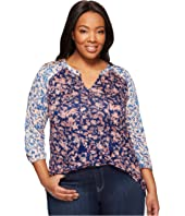 Lucky Brand - Plus Size Mixed Floral Top