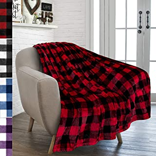 black and red plaid christmas decorations