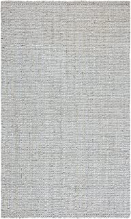"Safavieh Natural Fiber Collection NF730F Handmade Farmhouse Premium Jute Accent Rug, 2'3"" x 4', Grey"