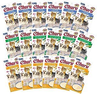 INABA Churu Lickable Purée Natural Cat Treats (Tuna and Chicken Variety Pack, 72 Tubes)