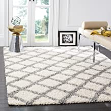 Safavieh Dallas Shag Collection SGD258F Ivory and Grey Area Rug (3' x 5')